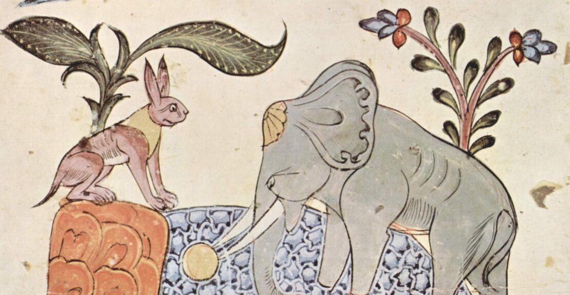 1 Ilustração de uma edição síria do Panchatantra. Domínio Público